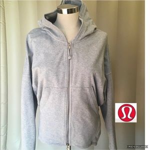 Lululemon grey zip up hoodie